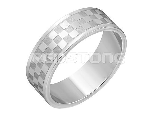 78d419fc1 Obroučka z chirurgické oceli - šachovnicový vzor - Prsteny z ...